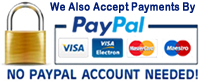 PayPal Payments Also Accepted